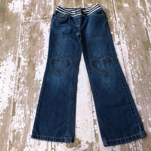 Mini Boden Heart Patch Pocket Jeans Stretch 9Y